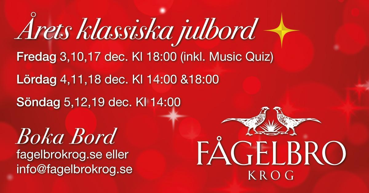 Julbord på Fågelbro krog
